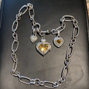 Judith Ripka Necklace with Charms